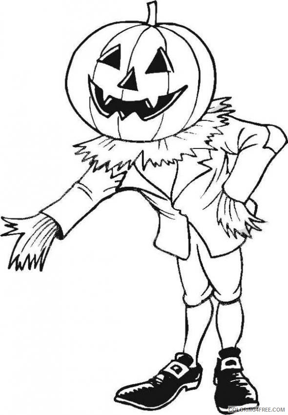 scary coloring pages jack o lantern Coloring4free