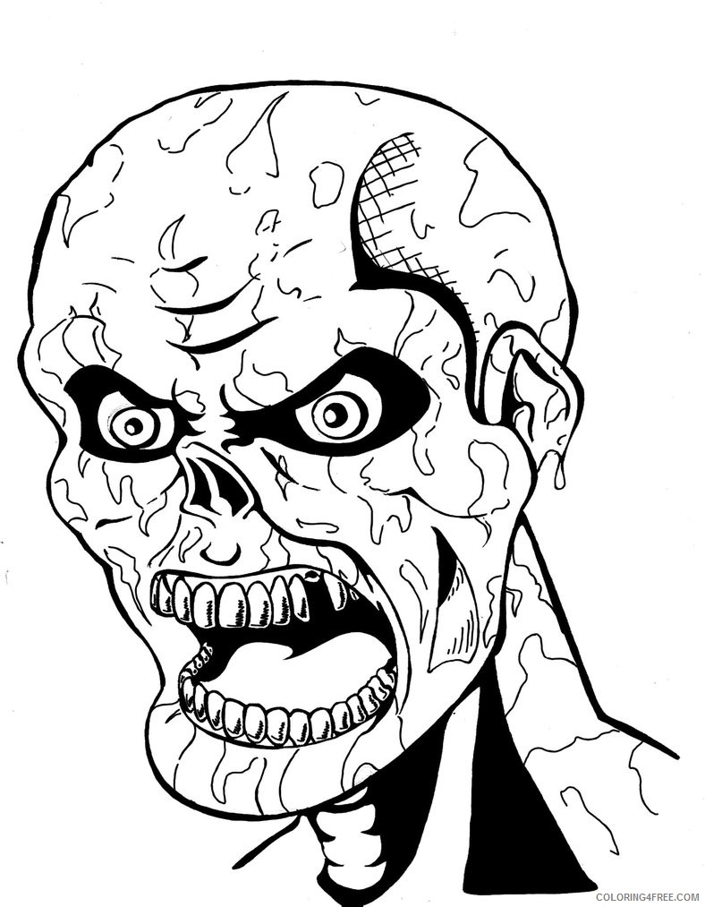 scary face coloring pages Coloring4free