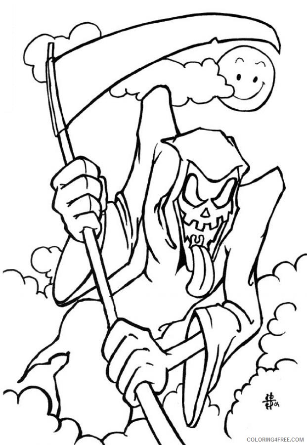 scary grim reaper coloring pages Coloring4free