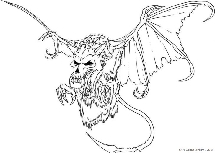 scary monster coloring pages Coloring4free