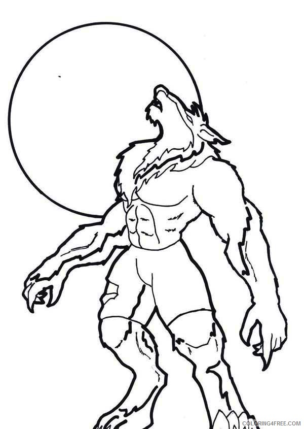 scary werewolf coloring pages Coloring4free