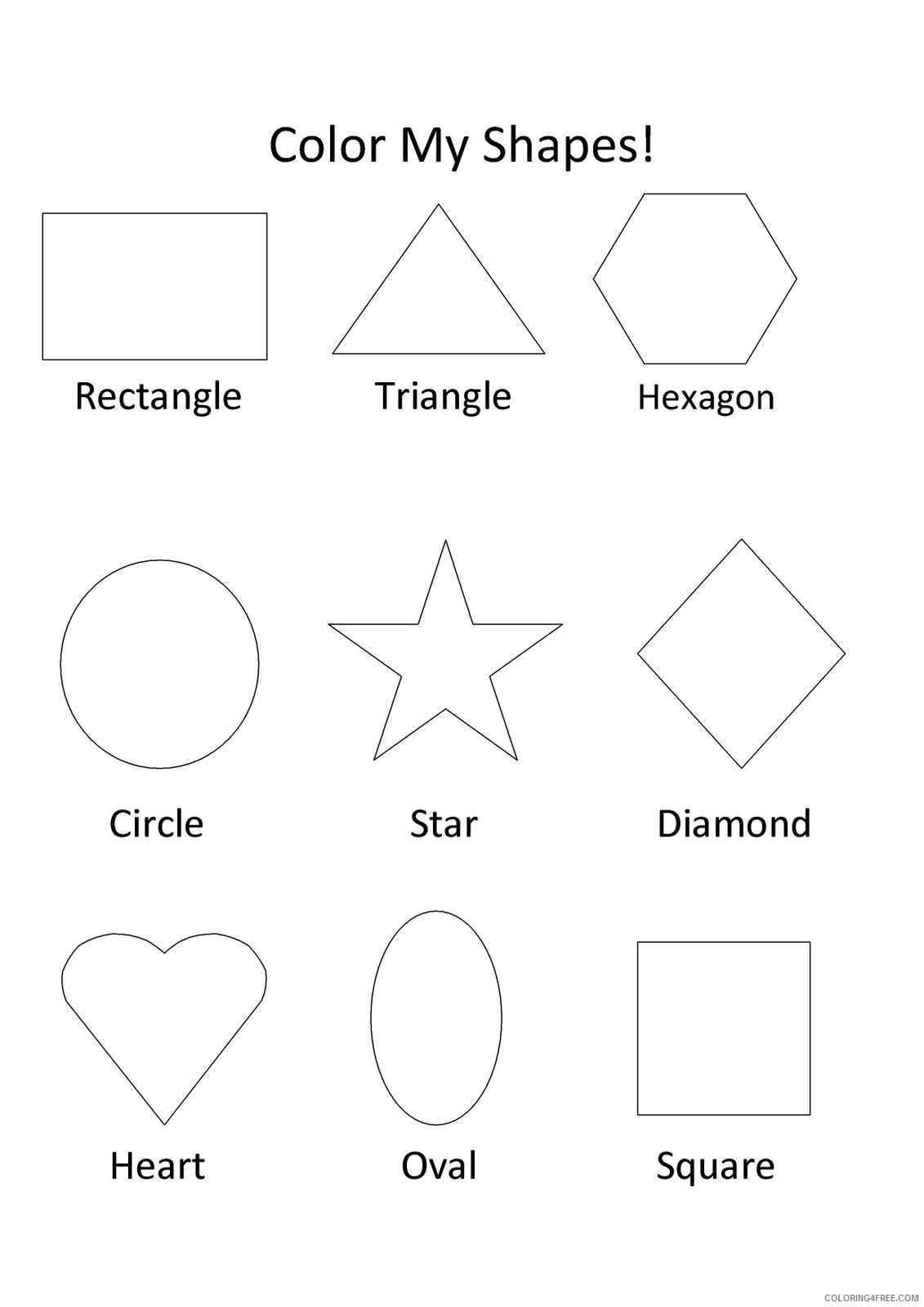 shape coloring pages for toddler Coloring4free