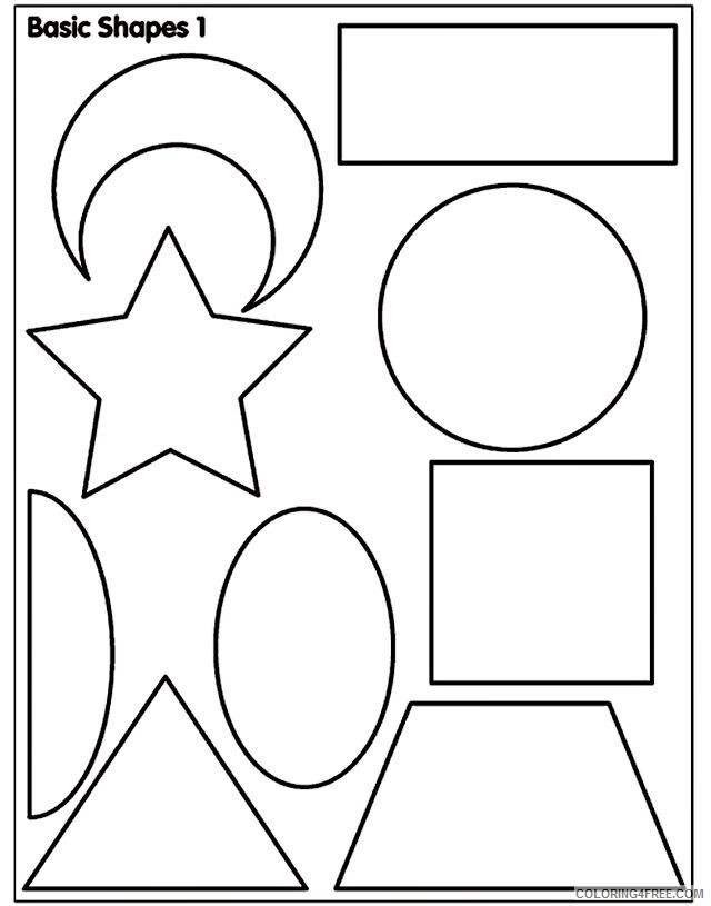 shape coloring pages printable Coloring4free