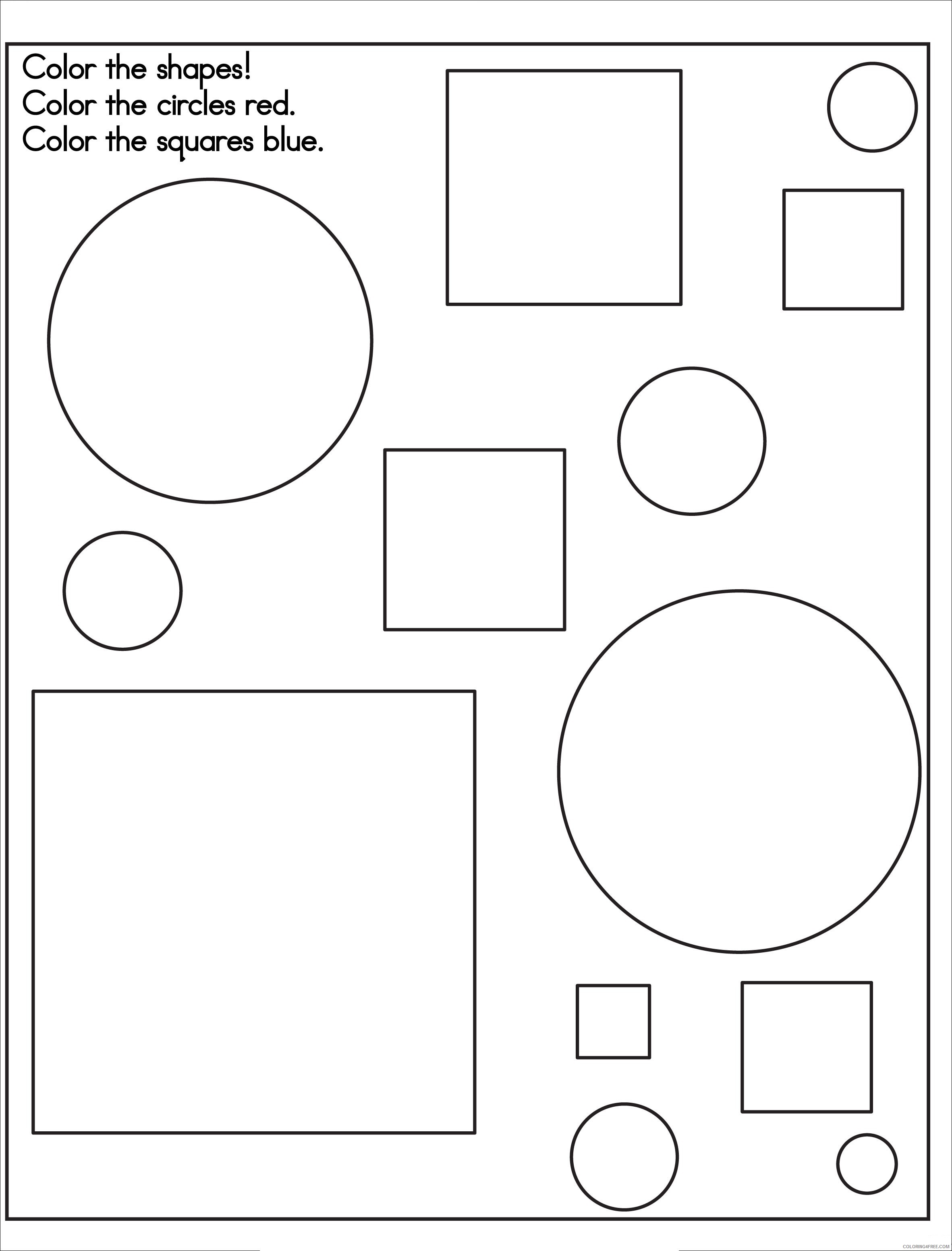 shape coloring pages squares and circles Coloring4free