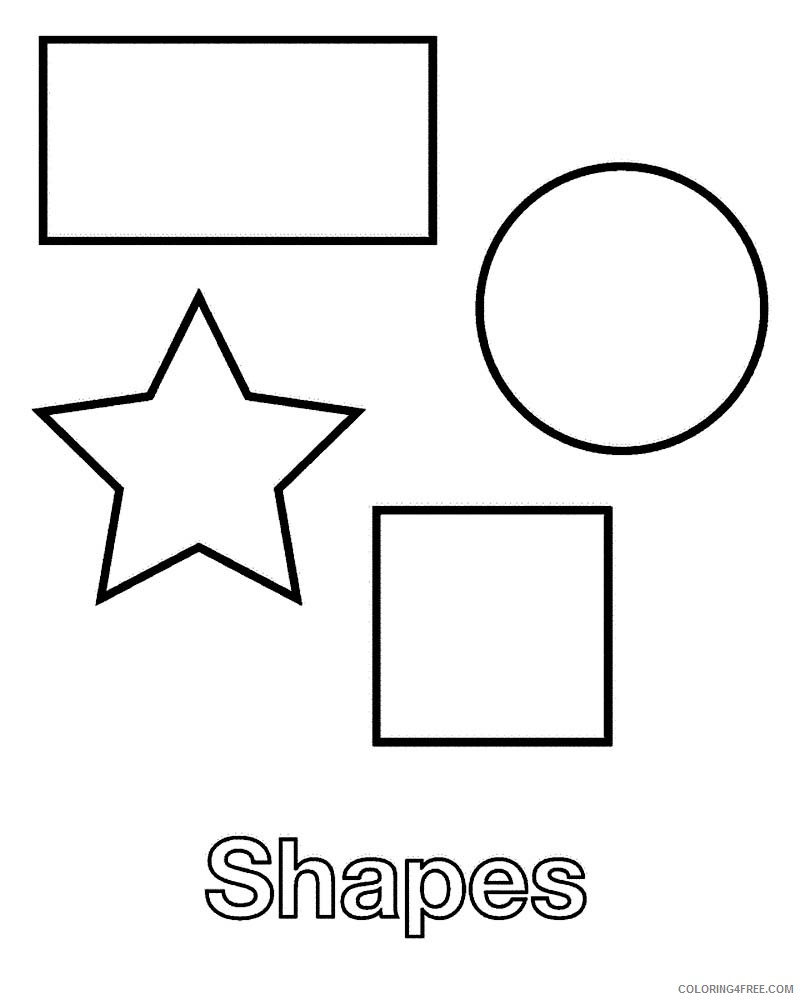shape coloring pages to print Coloring4free