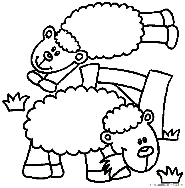 sheep coloring pages eating grass Coloring4free