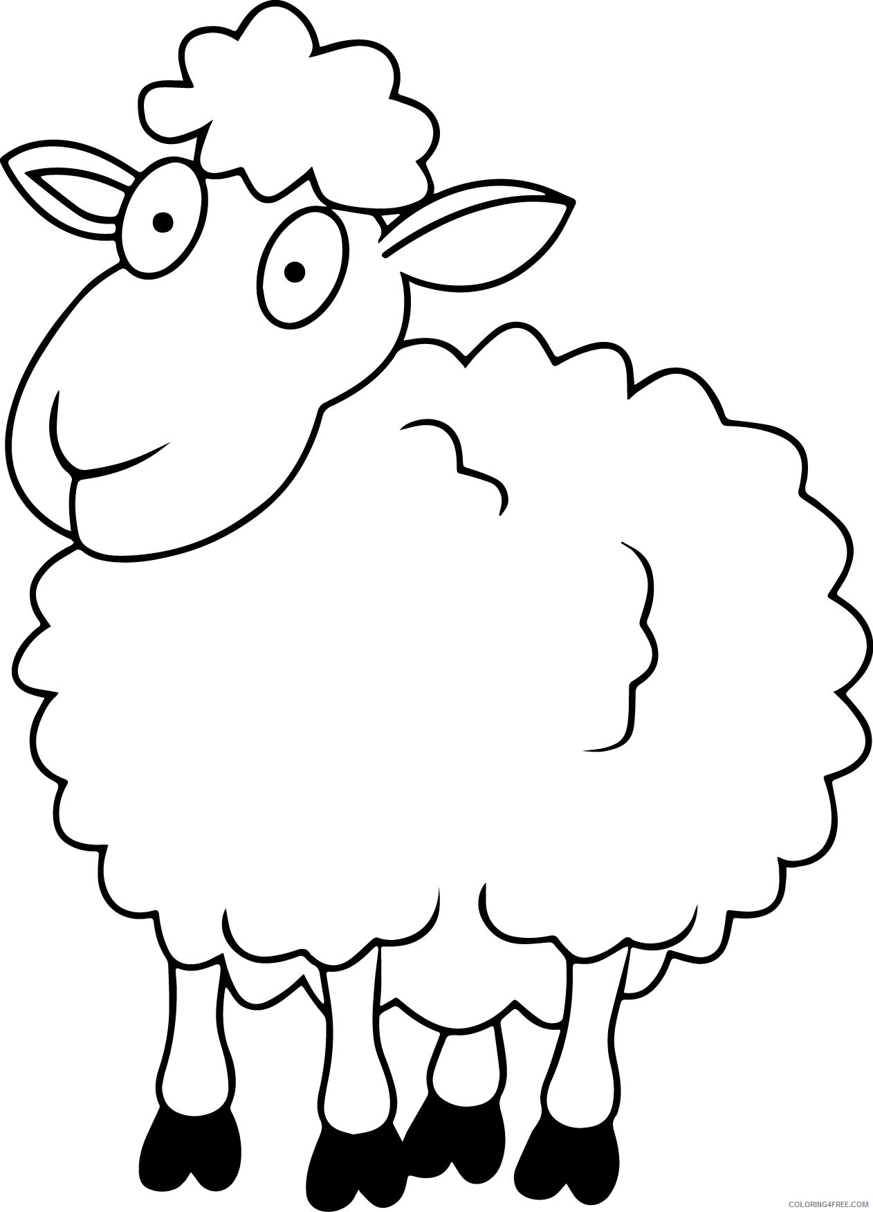 sheep coloring pages for kids Coloring4free