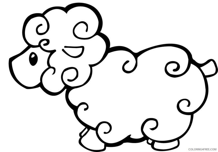 sheep coloring pages for kids printable Coloring4free