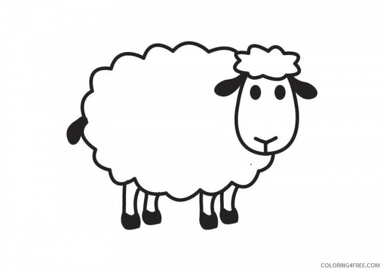 sheep coloring pages for preschool Coloring4free