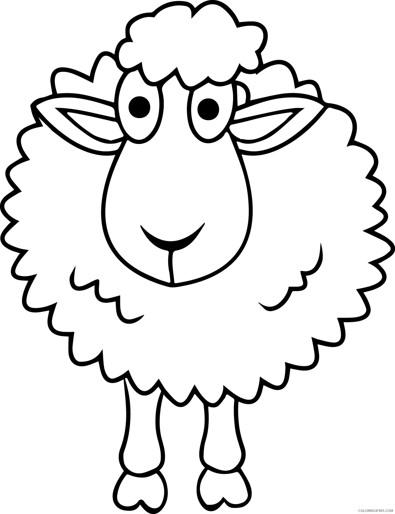 sheep coloring pages free for kids Coloring4free