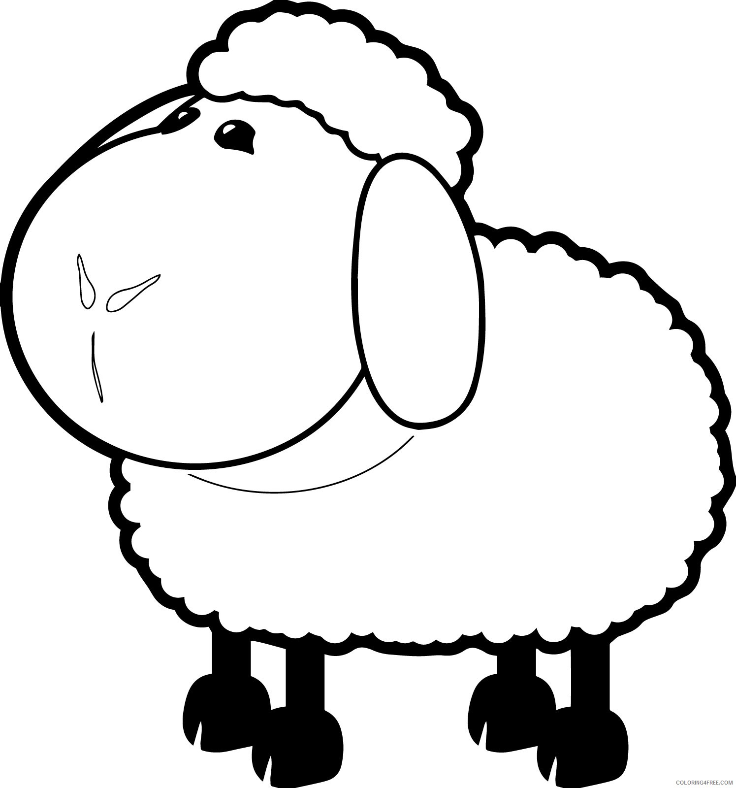 sheep coloring pages free to print Coloring4free
