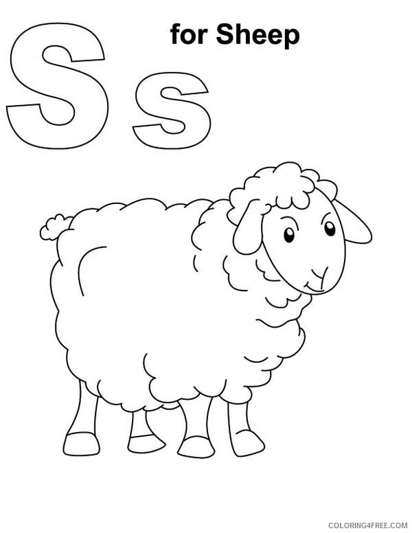 sheep coloring pages s for sheep Coloring4free