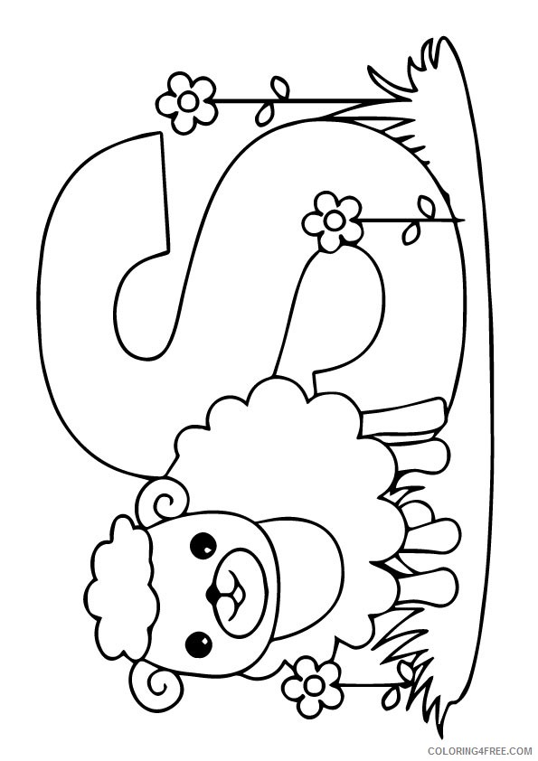 sheep coloring pages s is for sheep Coloring4free
