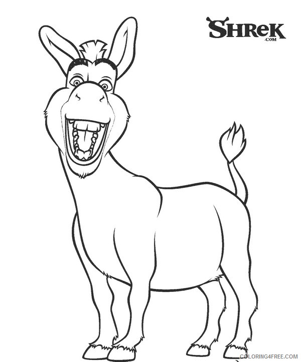 shrek coloring pages donkey Coloring4free