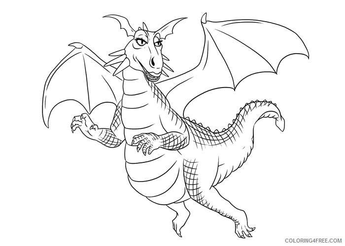 shrek coloring pages dragon Coloring4free