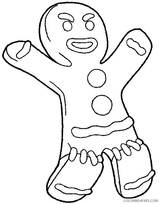 shrek coloring pages gingerbread man Coloring4free