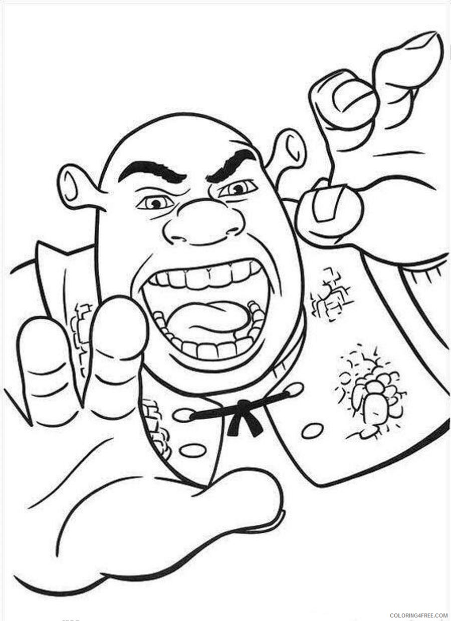 shrek coloring pages printable Coloring4free