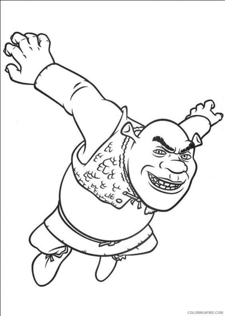 shrek coloring pages to print Coloring4free