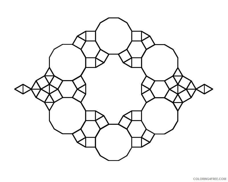 simple geometric coloring pages for kids Coloring4free