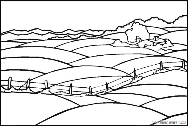 simple landscape coloring pages 2 Coloring4free
