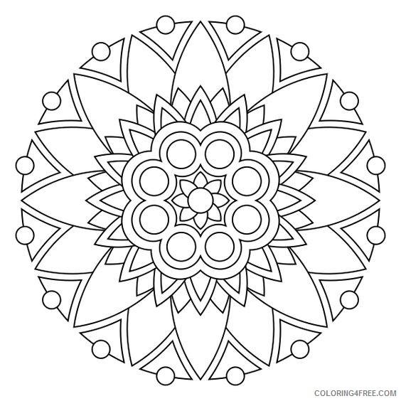 simple mandala coloring pages printable Coloring4free