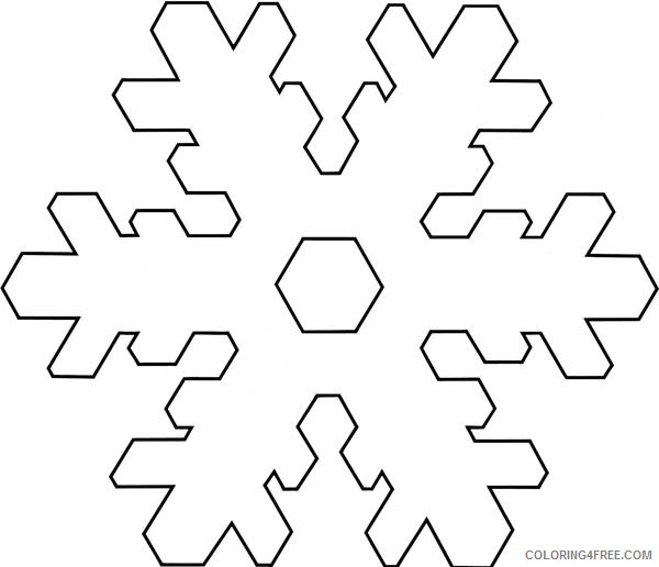 simple snowflake coloring pages Coloring4free