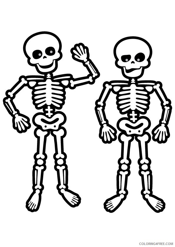skeleton coloring pages for preschool Coloring4free