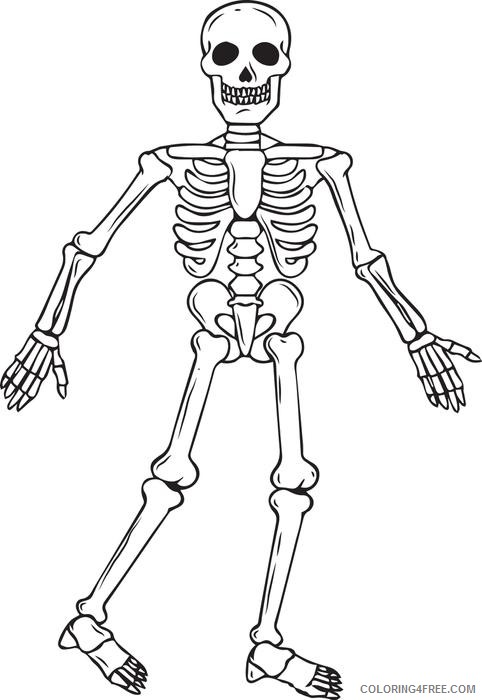 skeleton coloring pages to print Coloring4free