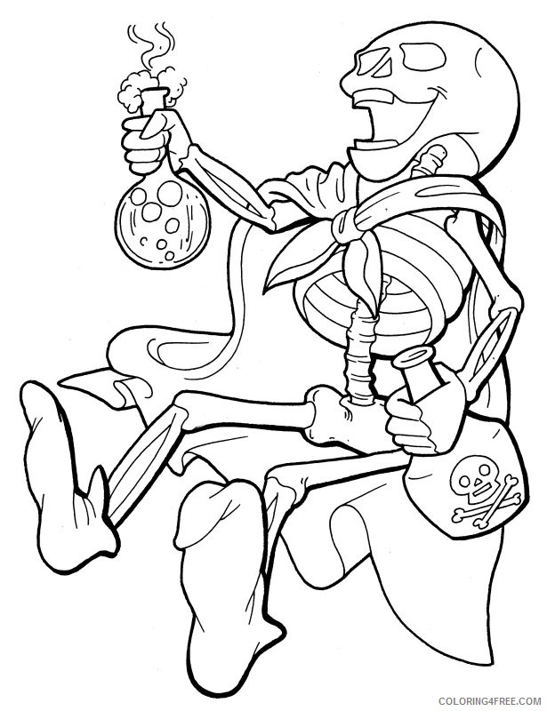 skeleton coloring pages with poison Coloring4free