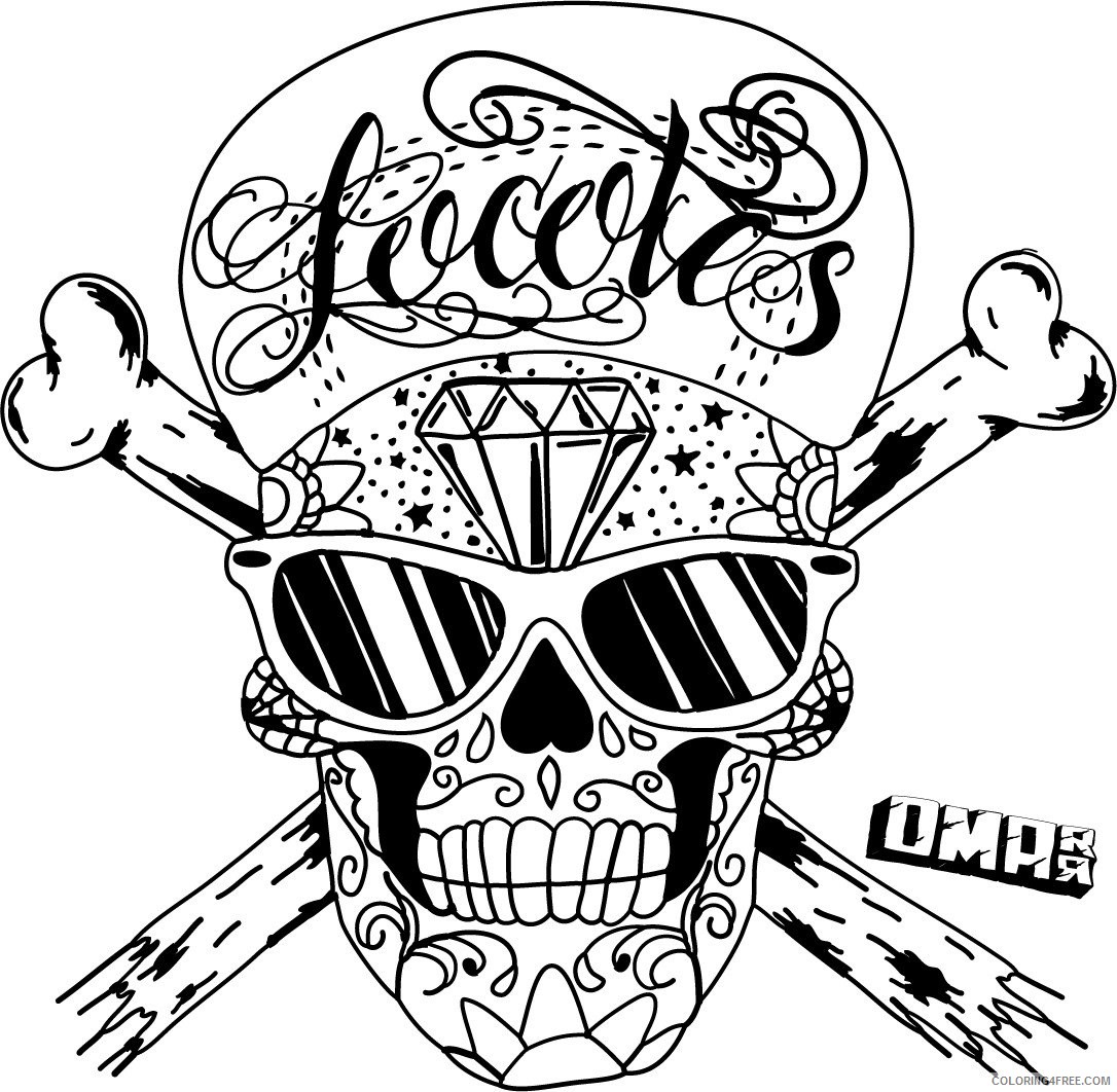 skull coloring pages for adults Coloring4free