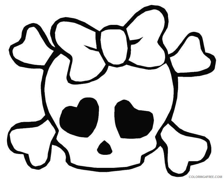 skull coloring pages for girls Coloring4free
