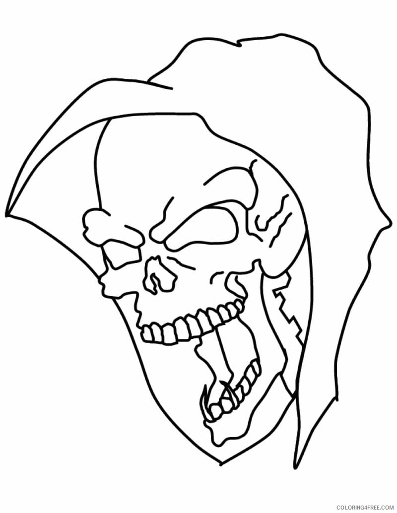 skull coloring pages grim reaper Coloring4free