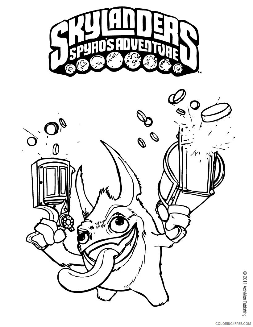 skylanders coloring pages for kids printable Coloring4free