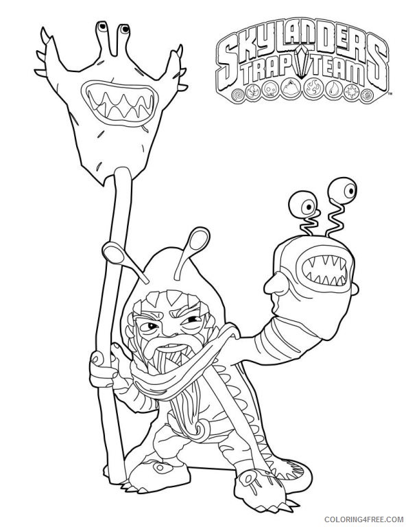 skylanders trap team coloring pages chompy mage Coloring4free