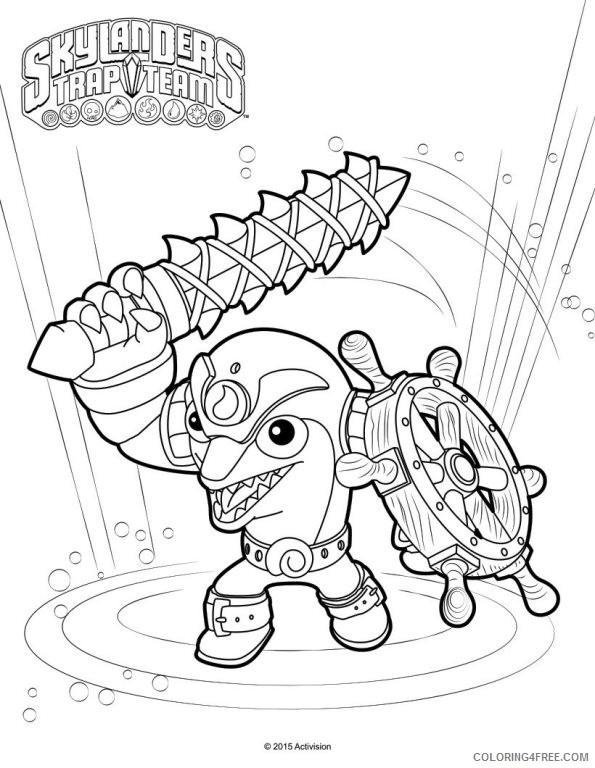 skylanders trap team coloring pages flip wreck Coloring4free