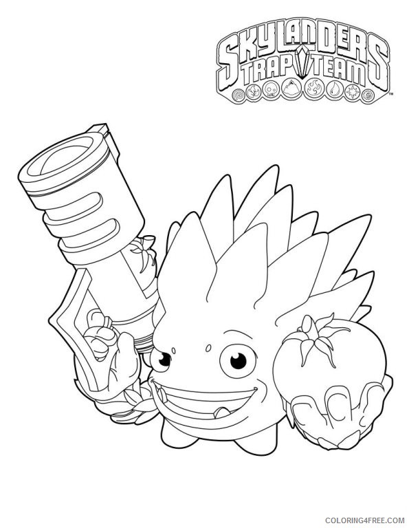 skylanders trap team coloring pages food fight Coloring4free