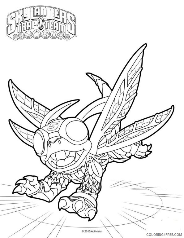 skylanders trap team coloring pages high five Coloring4free