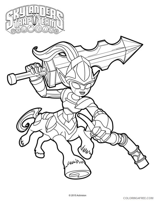 skylanders trap team coloring pages knight mare Coloring4free