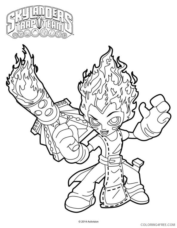 skylanders trap team coloring pages torch Coloring4free