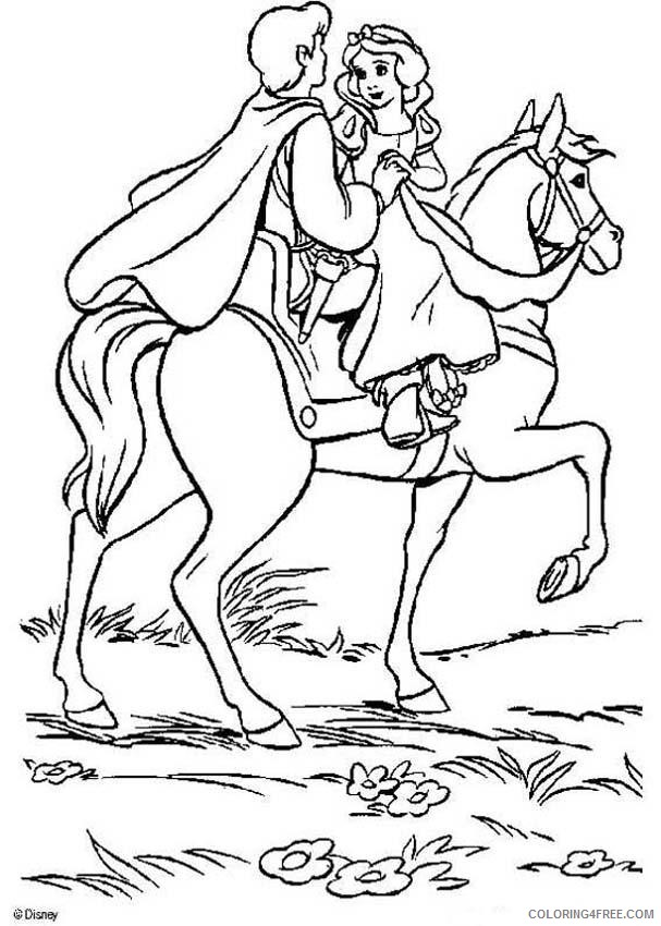snow white and the prince coloring pages Coloring4free