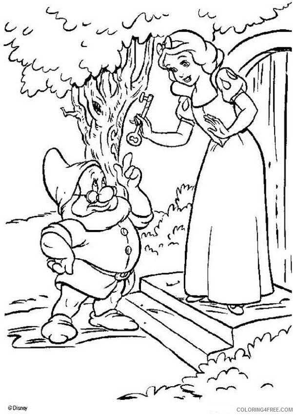 snow white coloring pages and doc the dwarf Coloring4free