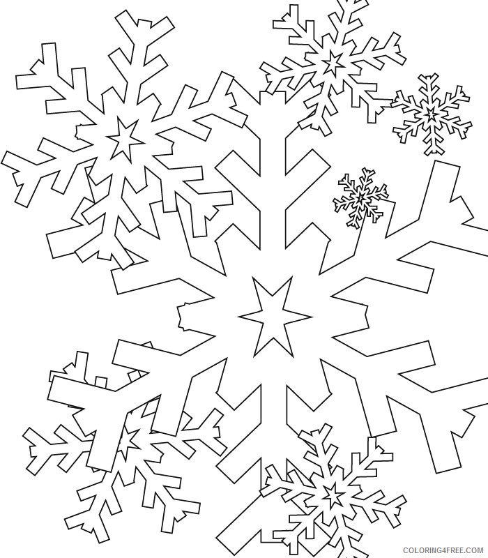 snowflake coloring pages falling down Coloring4free