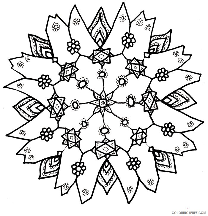 snowflake coloring pages for adults Coloring4free