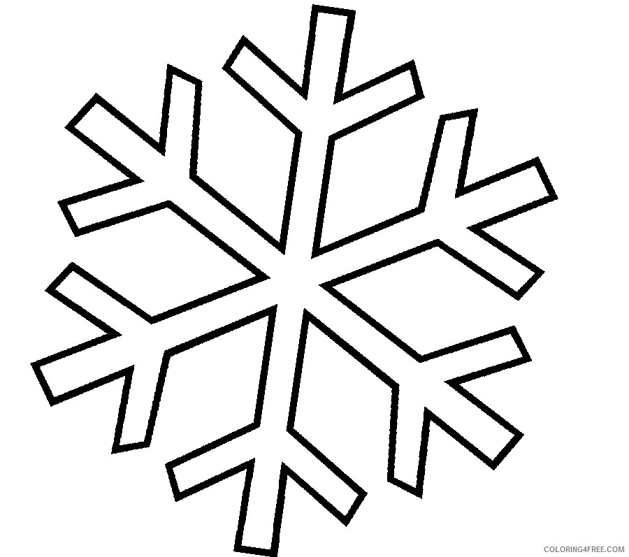 snowflake coloring pages for kids Coloring4free