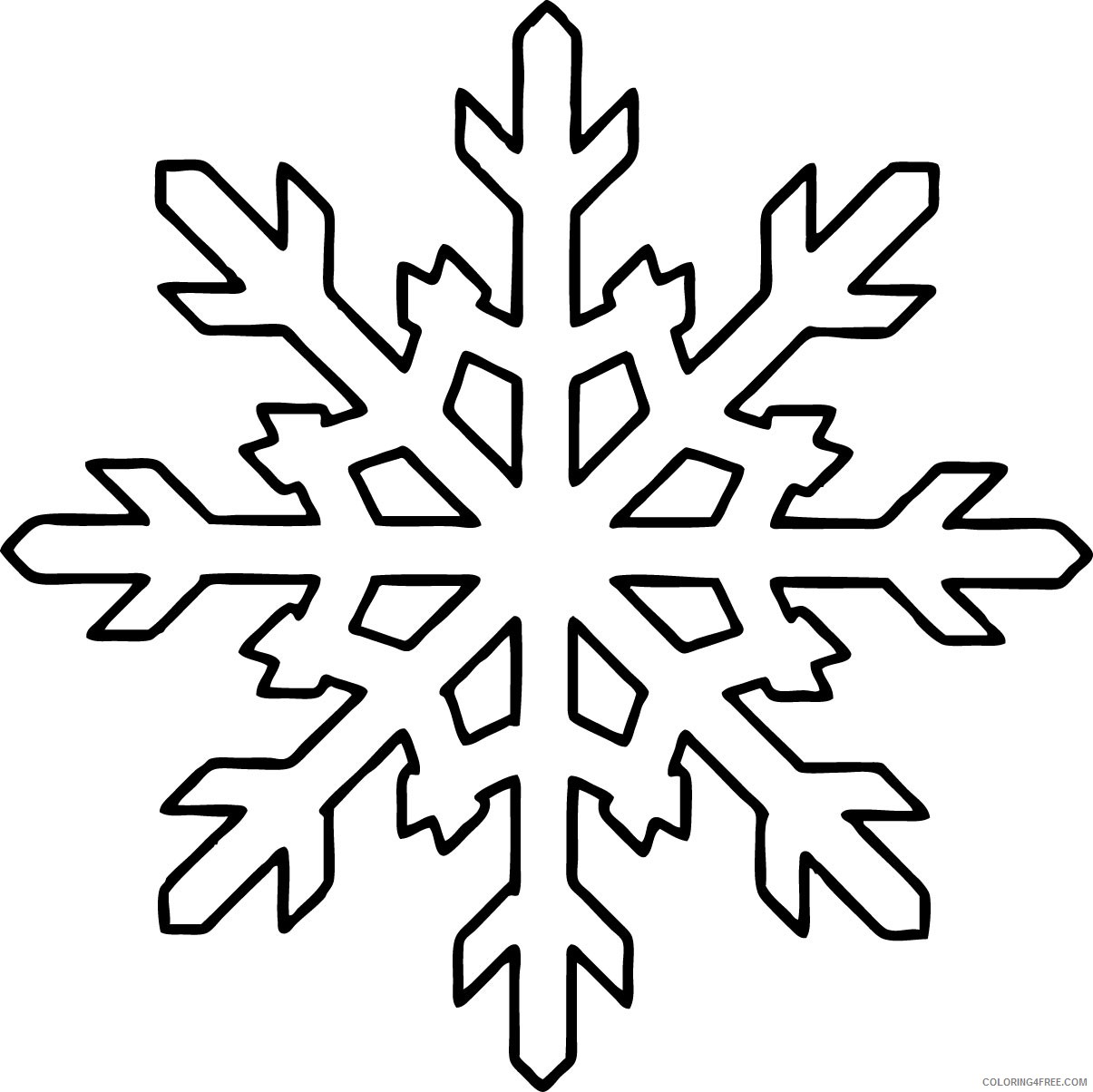 snowflake coloring pages for kids printable Coloring4free
