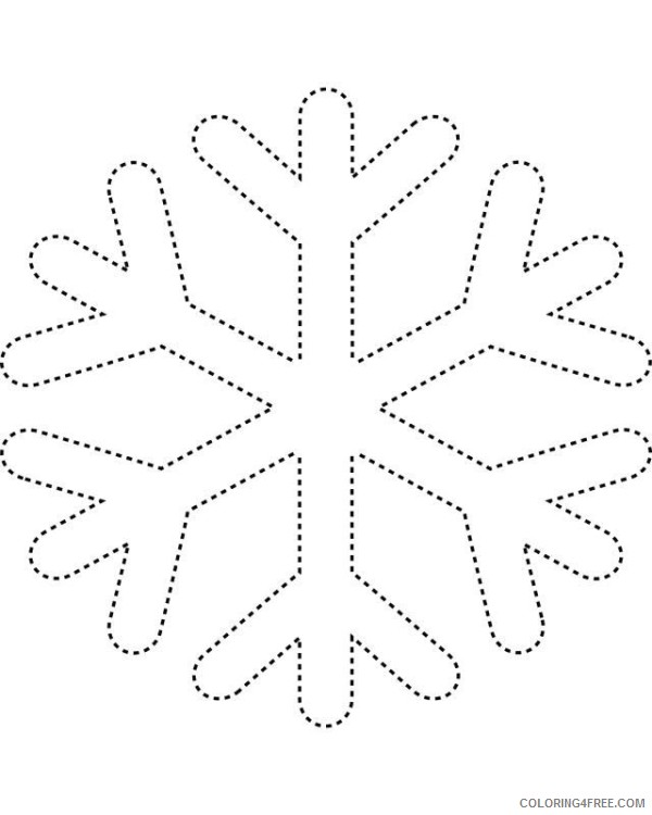 snowflake coloring pages for preschooler Coloring4free