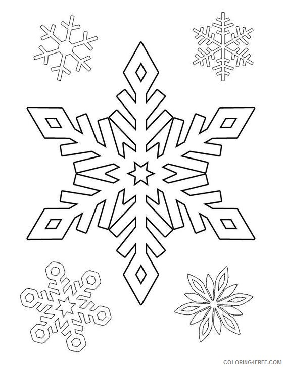 snowflake coloring pages printable Coloring4free