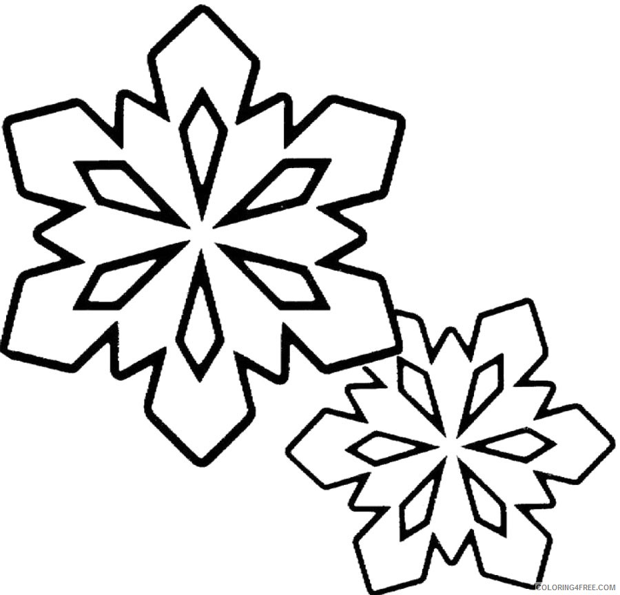 snowflake coloring pages printable free Coloring4free