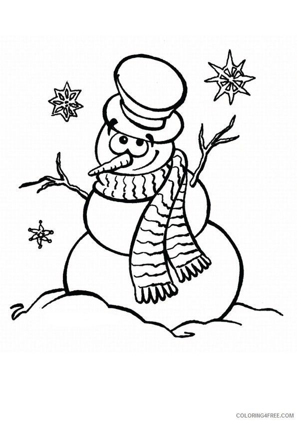 snowman coloring pages free to print Coloring4free