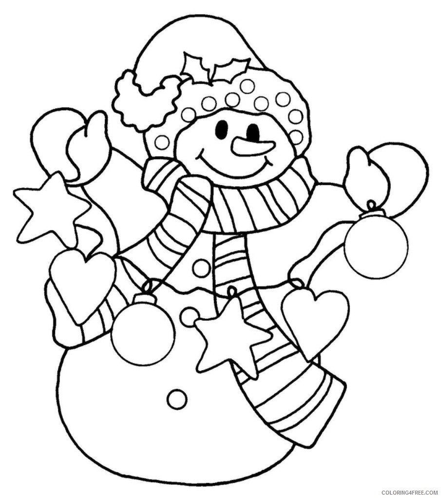 snowman coloring pages to print Coloring4free